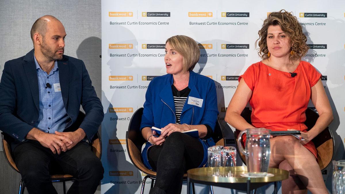 Photo of Piers Verstegen, Yvonne Power and Elizabeth Brennan