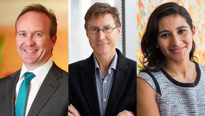 Headshots (L-R) Richard Bator, Mike Dockery, Silvia Salazar