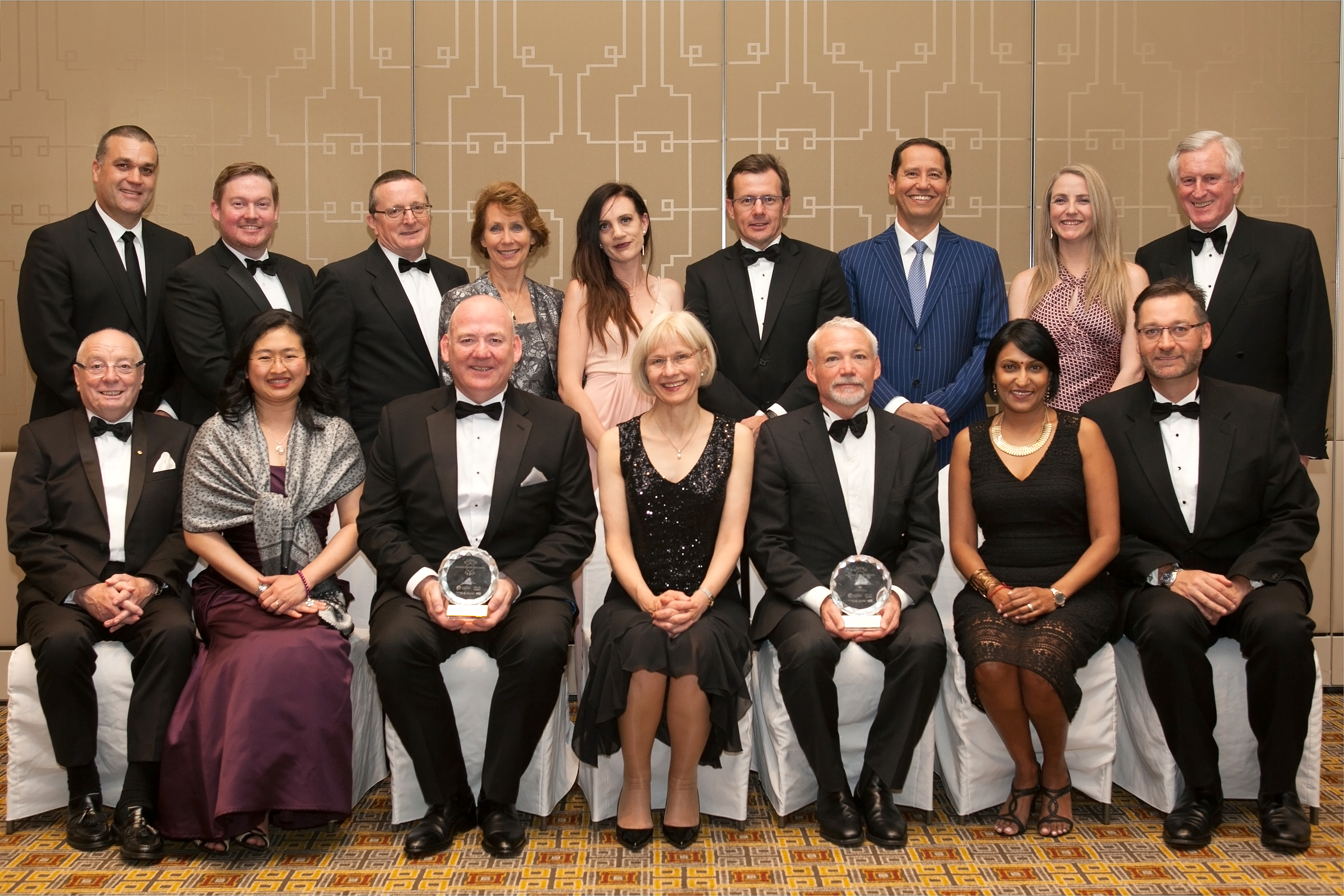 Group photo of winners at the 2016 B/HERT awards in Melbourne