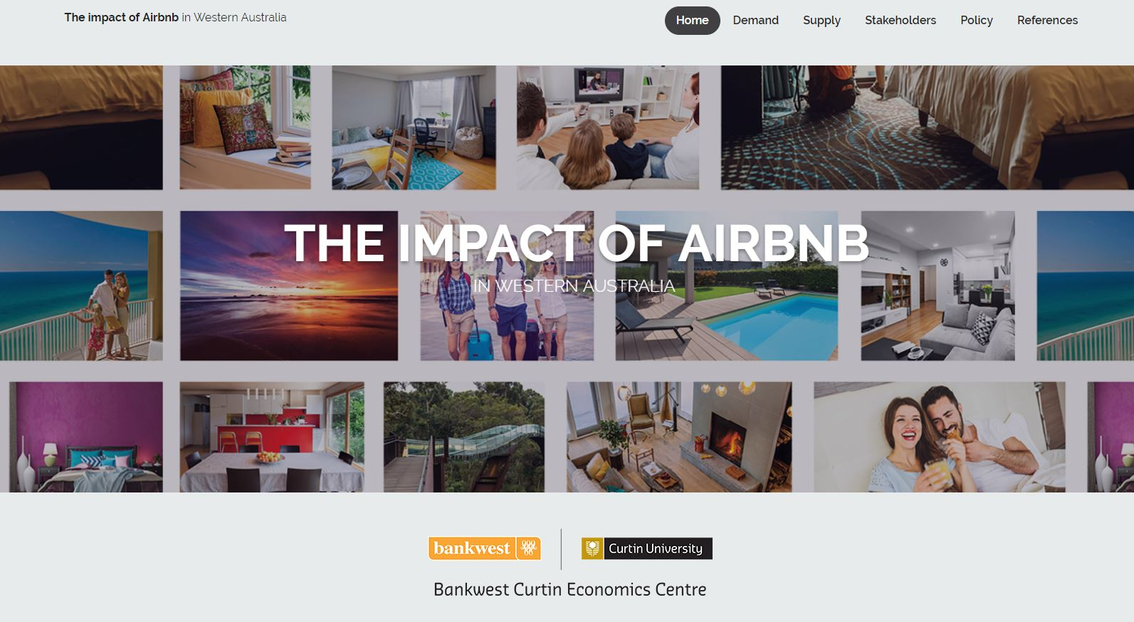 airbnb online report homepage screenshot